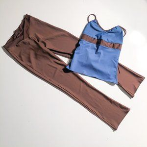 Blue and Brown Dance Set